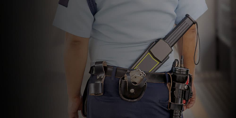 Equipement agent de sécurite talkie walkie tonfa
