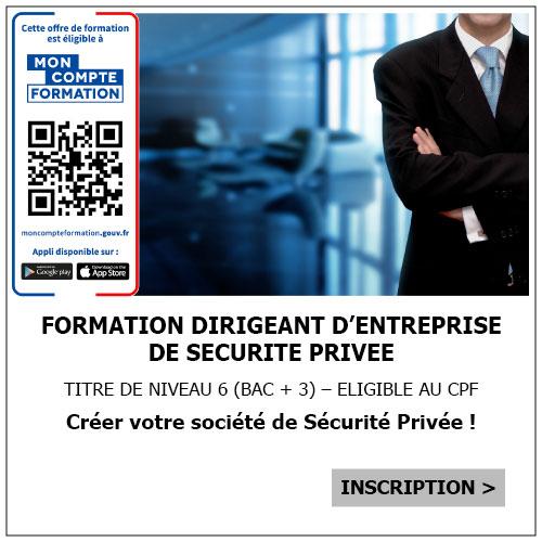 formation cqp dirigeant entreprise de sécurité privée